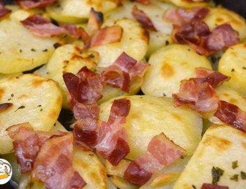 Patate con prosciutto cotto affumicato