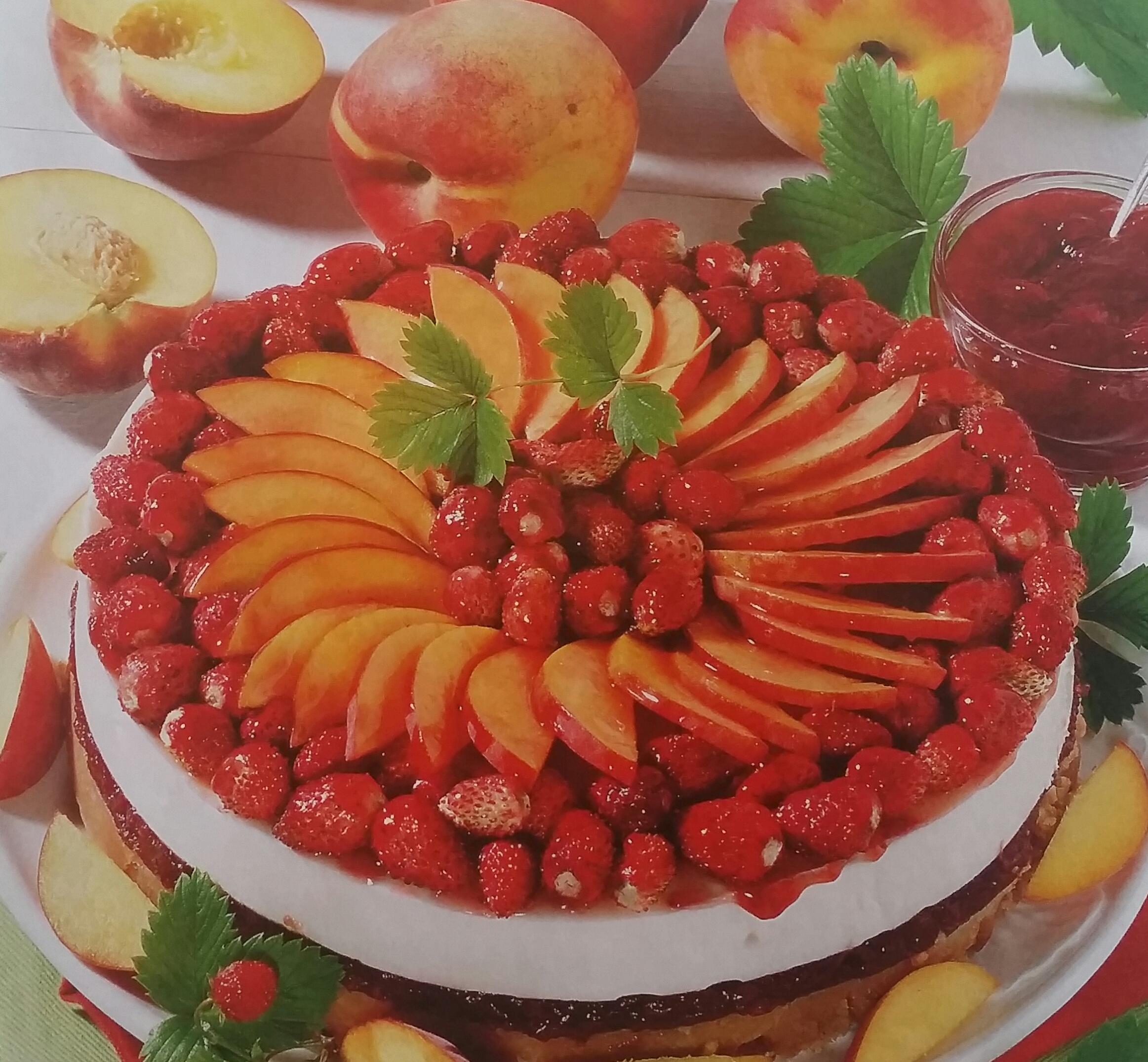 Torta Semifredda con Pesche