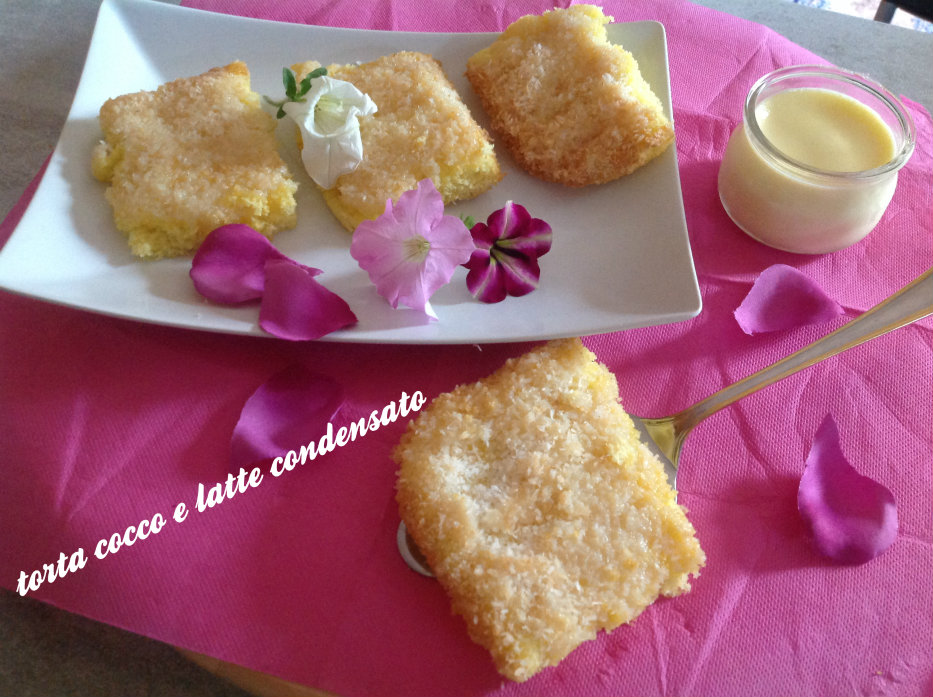torta morbida al cocco e latte condensato