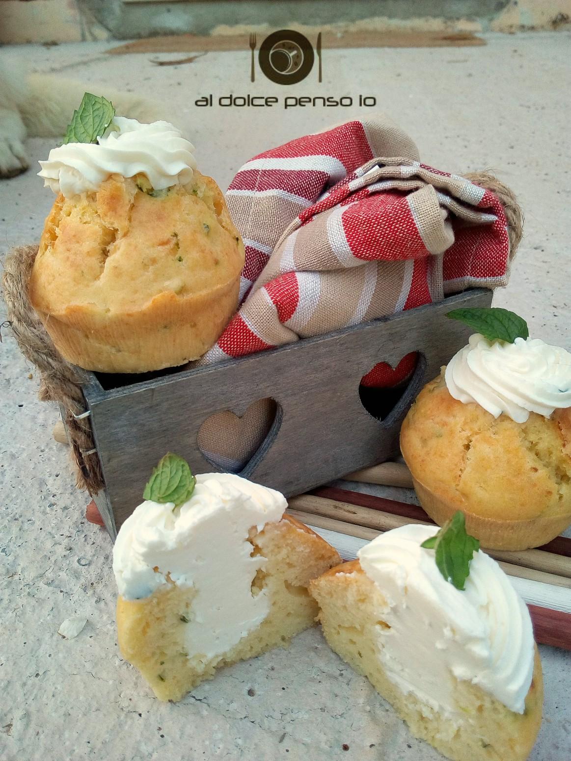 cupcake di zucchine con crema al formaggio