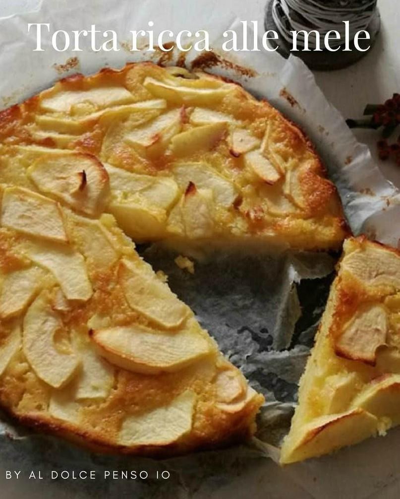 torta ricca alle mele
