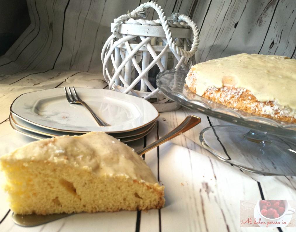 torta glassata cocco e rum