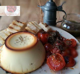 ricotta infornata con pomodorini grigliati e salsa alle olive