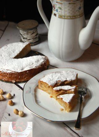 torta morbida pere e nocciole