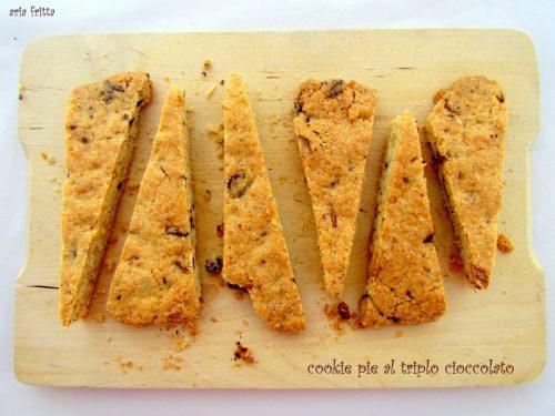cookie pie al triplo cioccolato