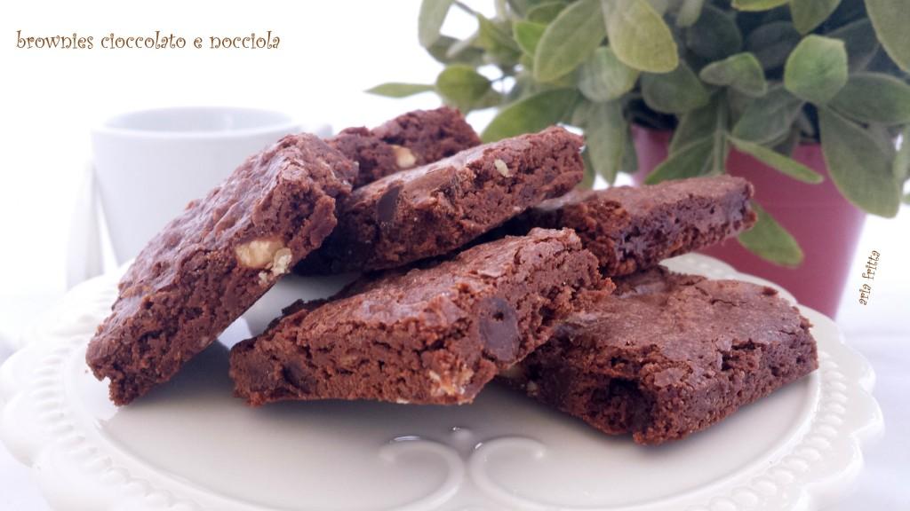 brownies cioccolato e nocciola 1