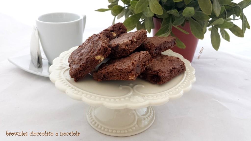 brownies cioccolato e nocciola
