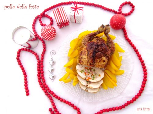 pollo delle feste con patate alla curcuma