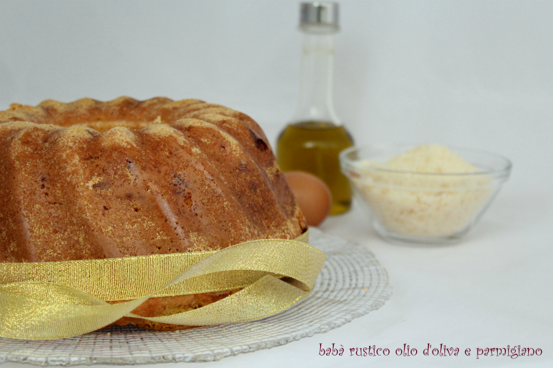 babà rustico olio d'oliva e parmigiano