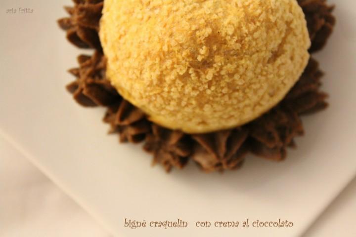 bignè craquelin con crema al cioccolato