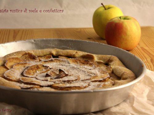 Crostata rustica di mele e confettura
