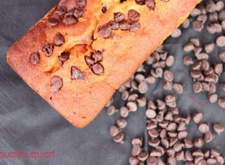 quatre quart facile con gocce di cioccolato