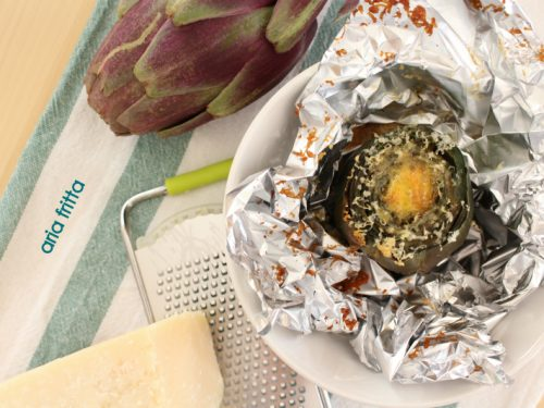 carciofo ripieno – piatto unico