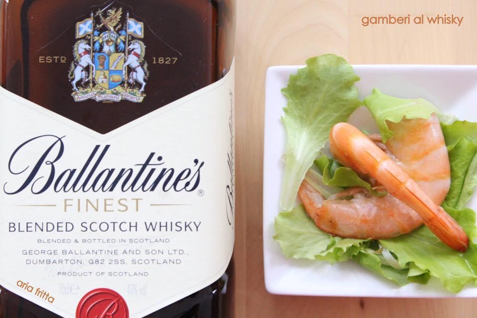 gamberoni al whisky