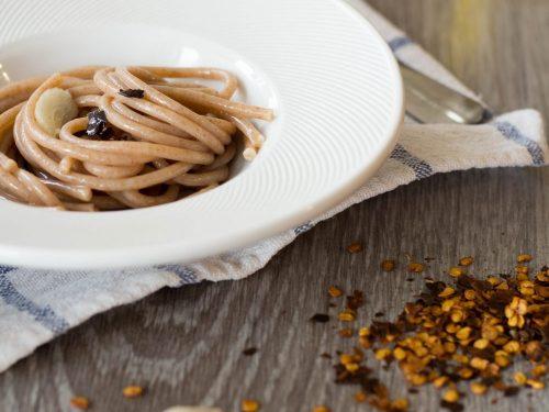 spaghetti di farro aglio olio e peperoncino