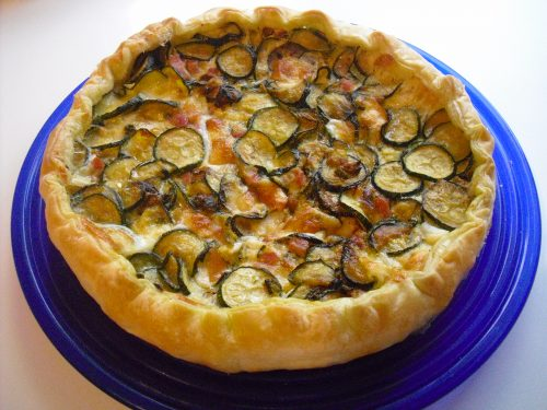 Torta salata alle zucchine, pancetta e scamorza!!