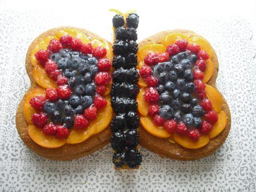 Torta alla frutta..una dolce farfalla!