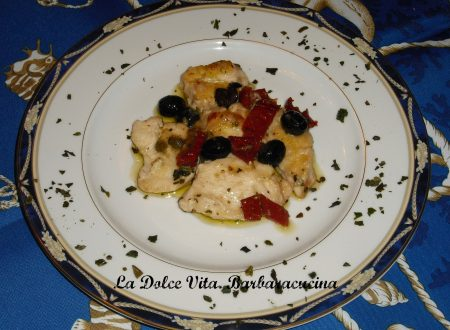 Pollo con pomodori secchi e olive!!