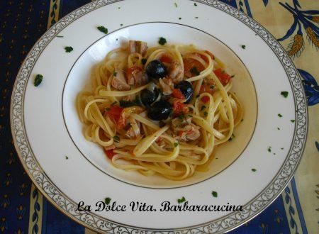 Pasta al tonno con olive!!