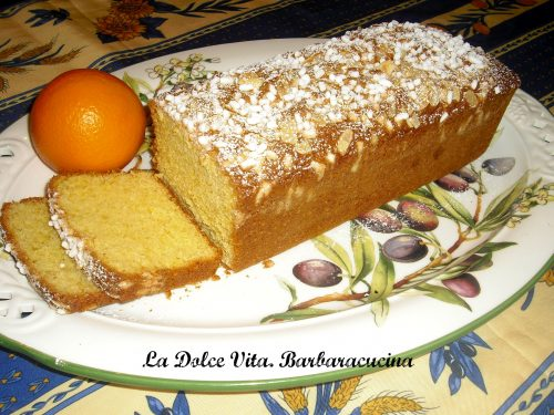 Plumcake con arancia (senza burro!)