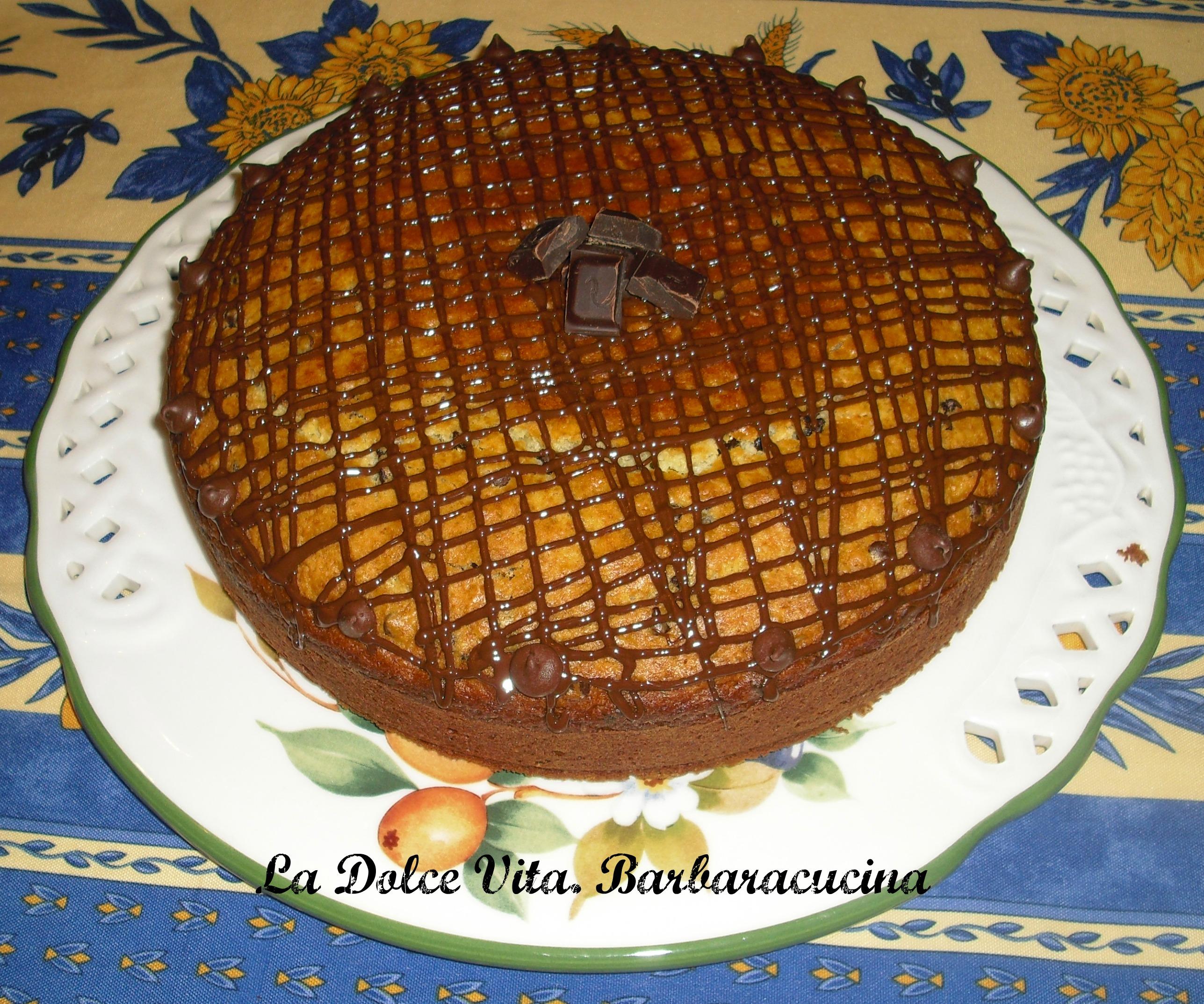 torta al cocco con cioccolato