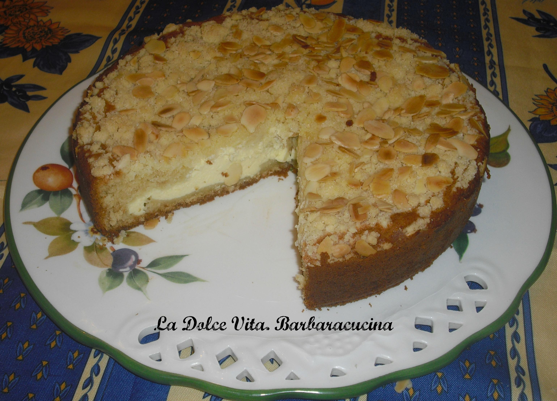 torta alla crema con mandorle 1