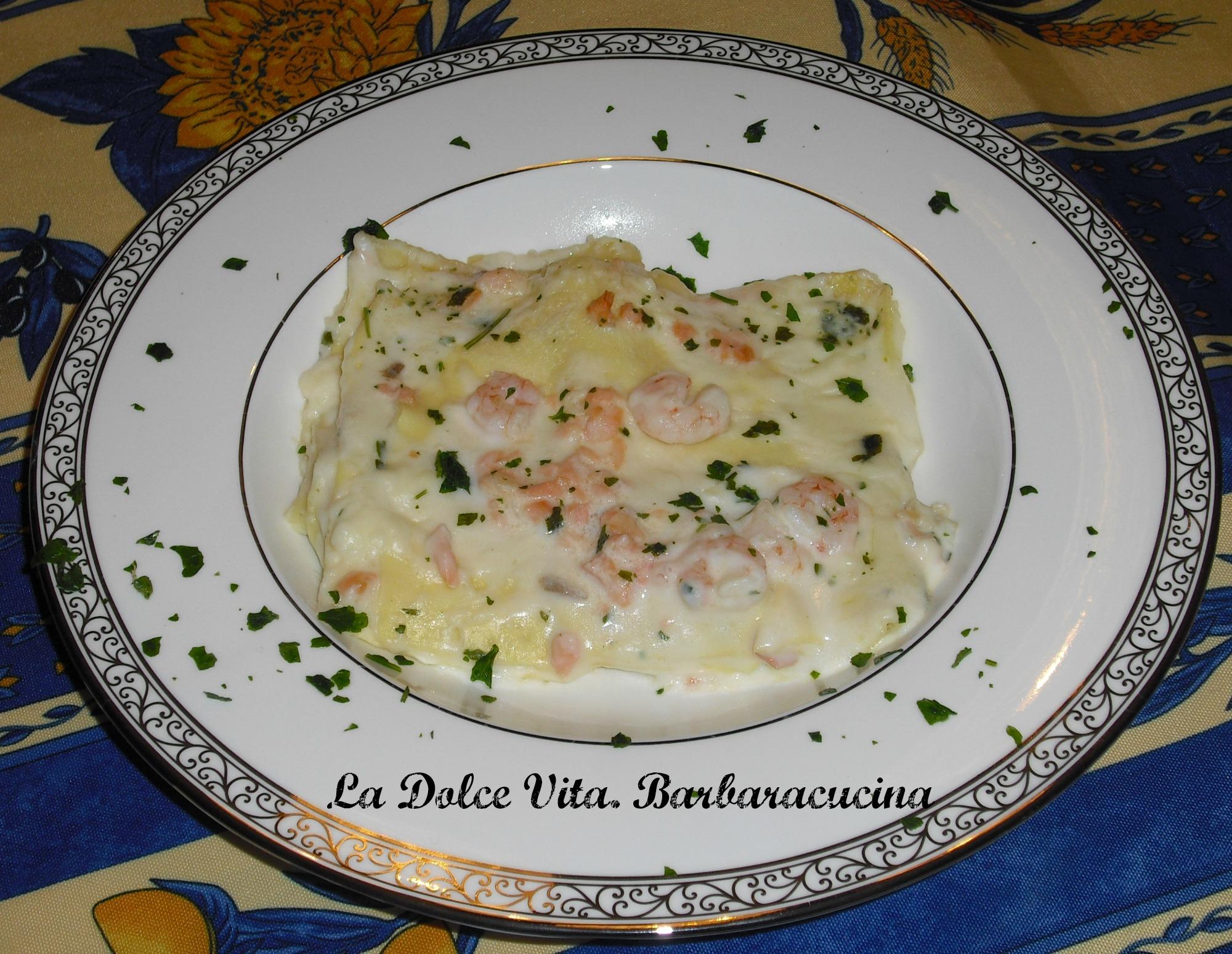 Lasagne al salmone e gamberetti!
