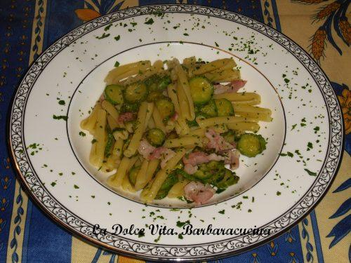 Pasta alle zucchine con pancetta!