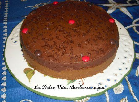 Torta alla vaniglia con cioccolato!