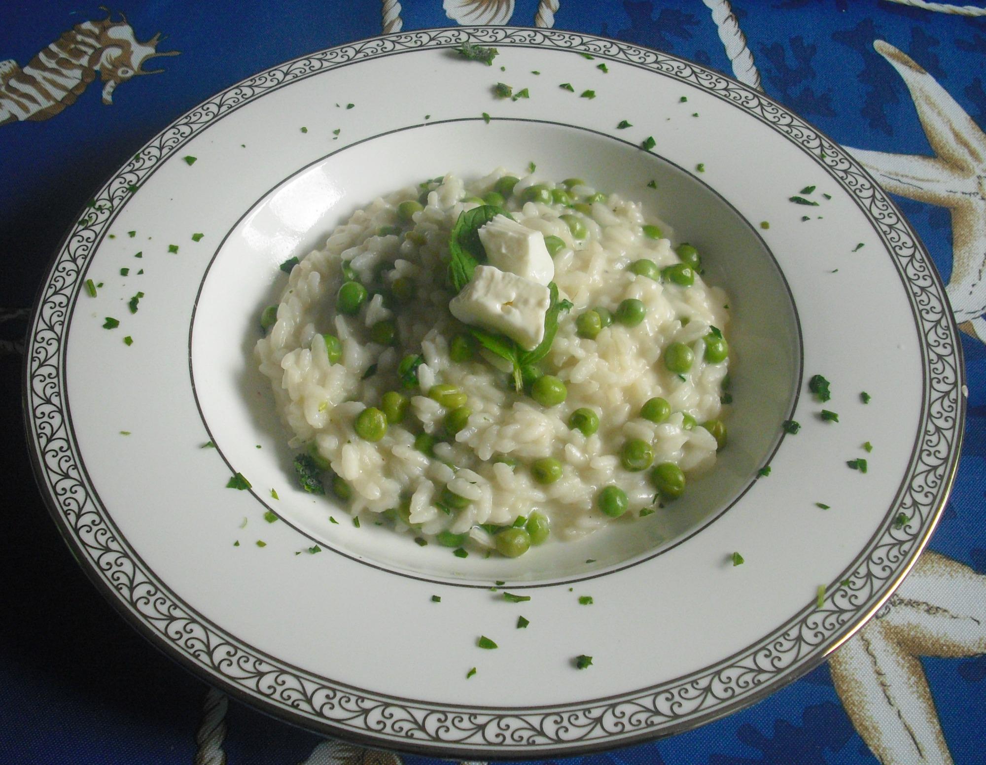 risotto con piselli 1