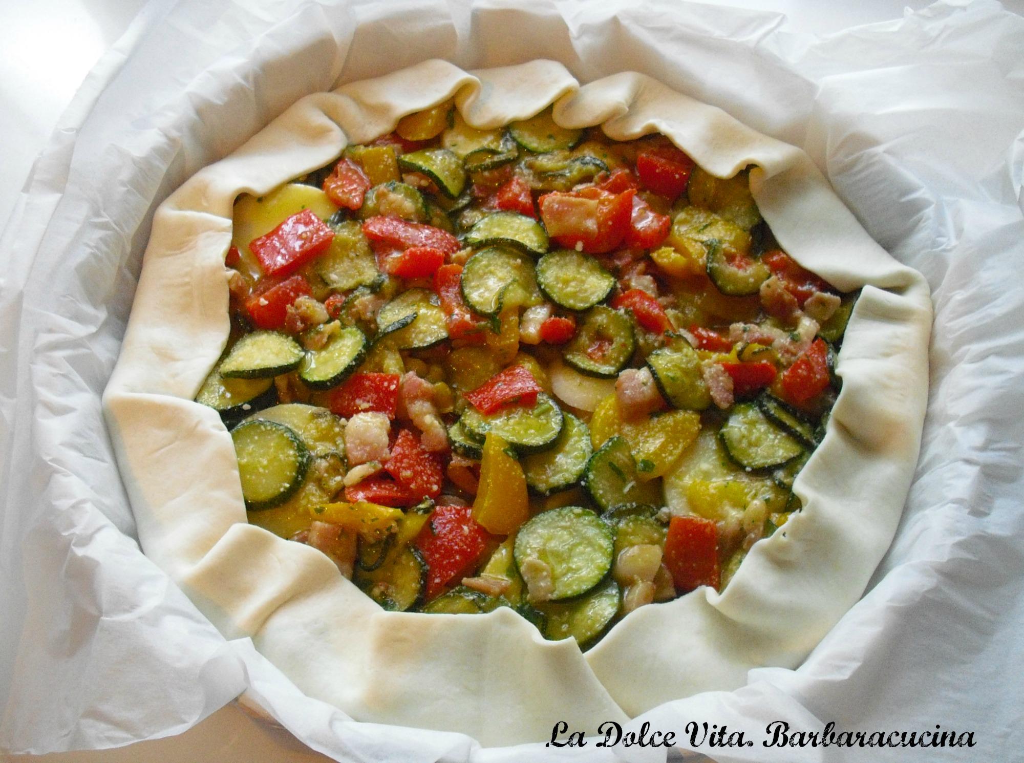 torta salata zucchine e peperoni 1