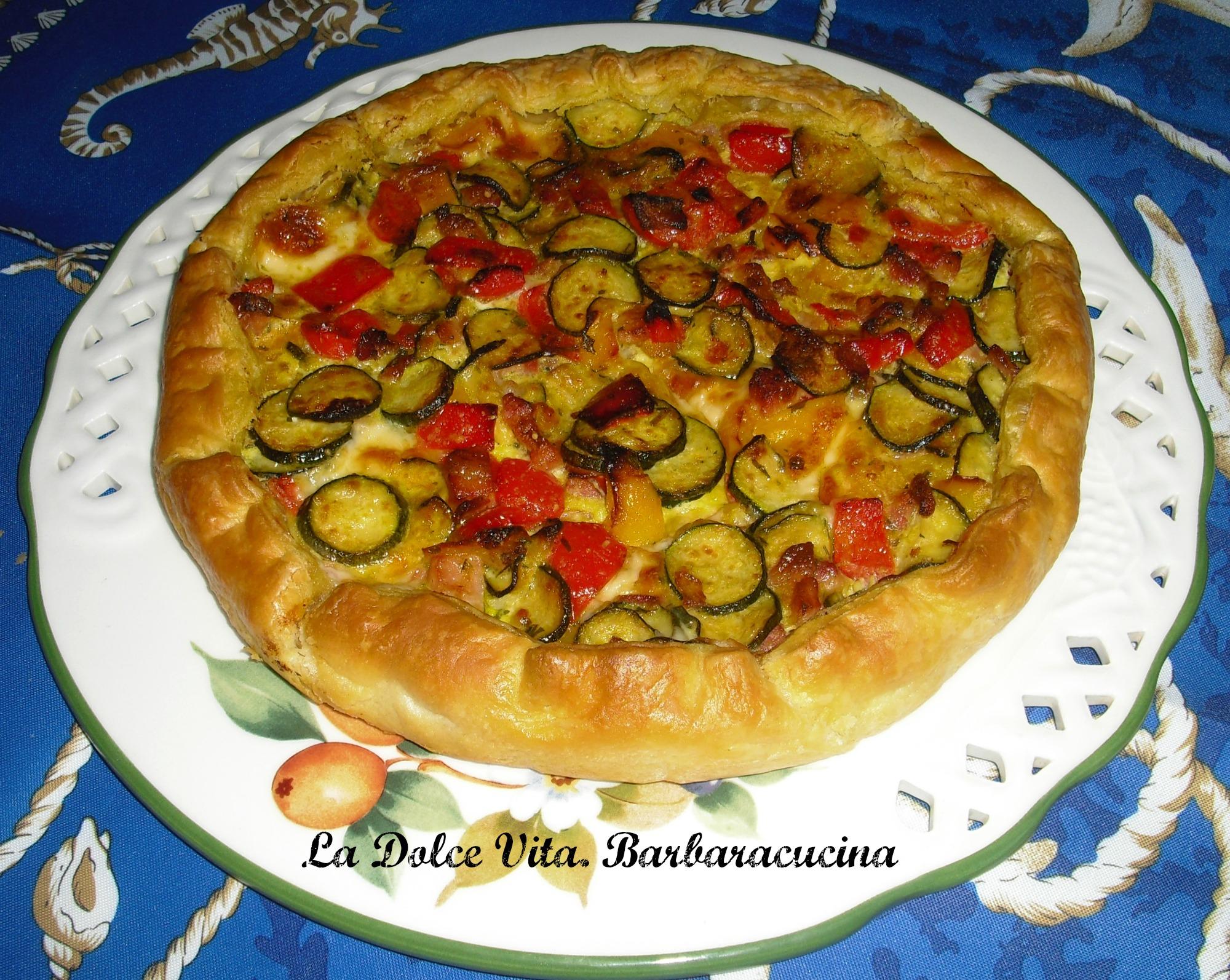torta salata zucchine e peperoni 2