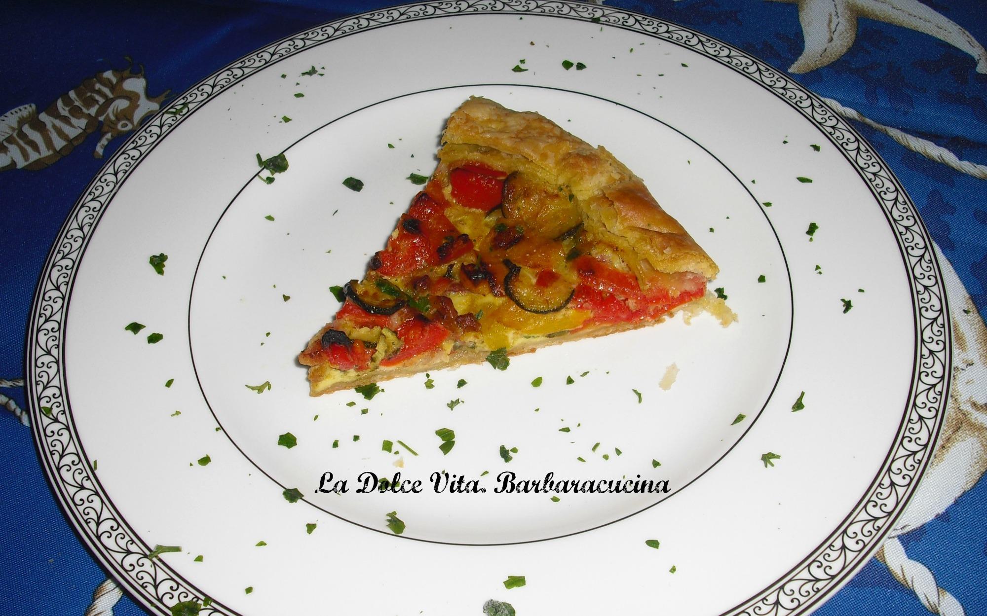 torta salata zucchine e peperoni 3