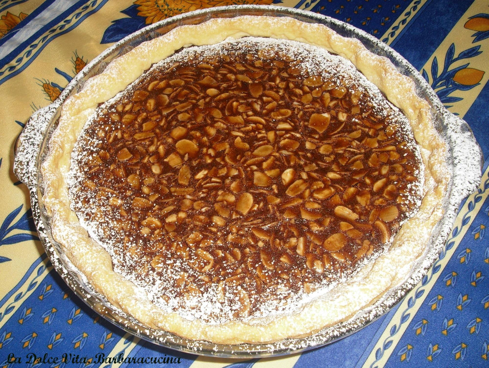 crostata al cioccolato e mandorle 2