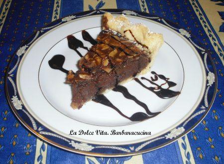 Crostata al cioccolato e mandorle