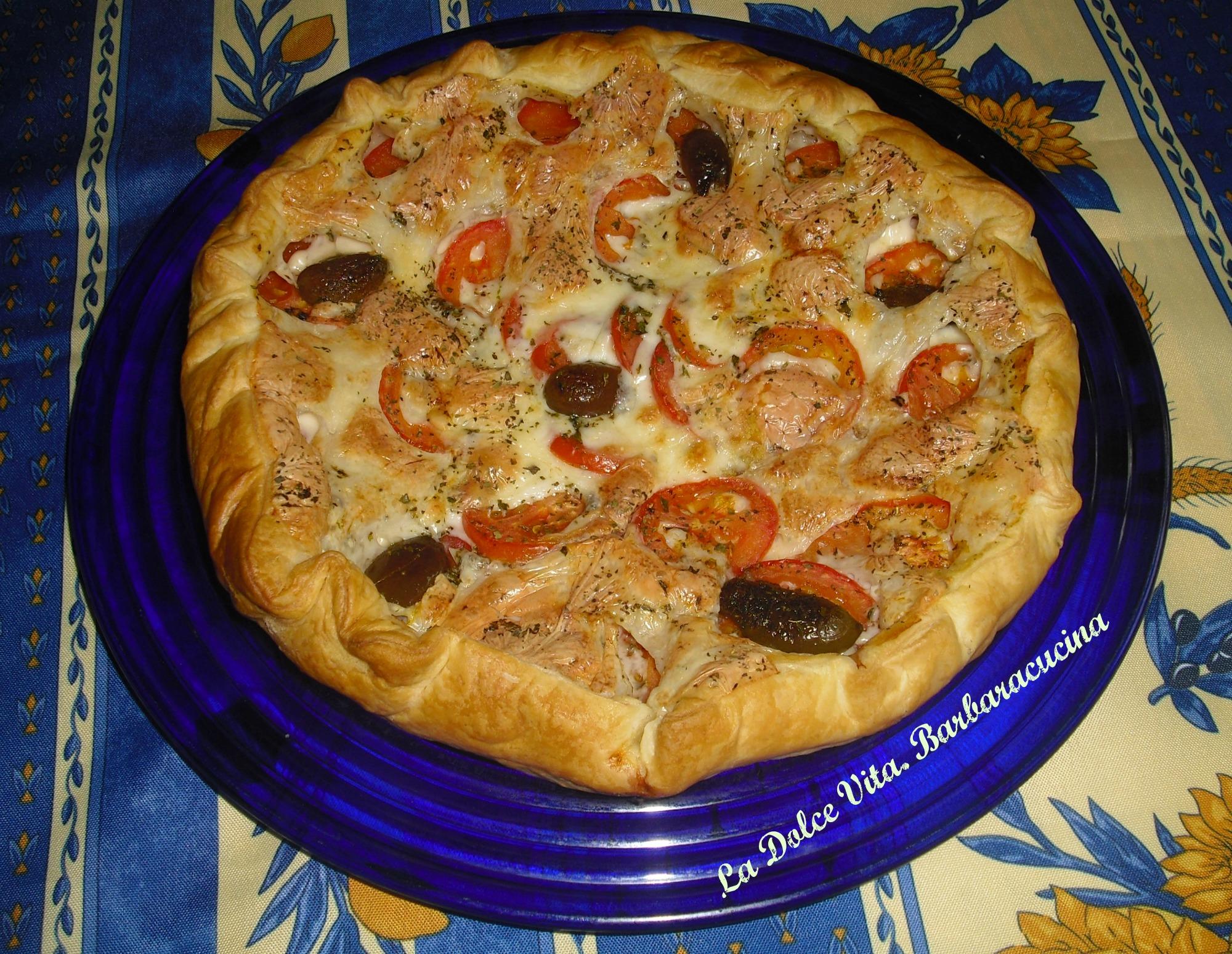 torta salata ai pomodori e mozzarella