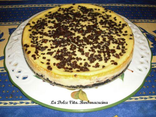 Cheesecake con le gocce di cioccolato!
