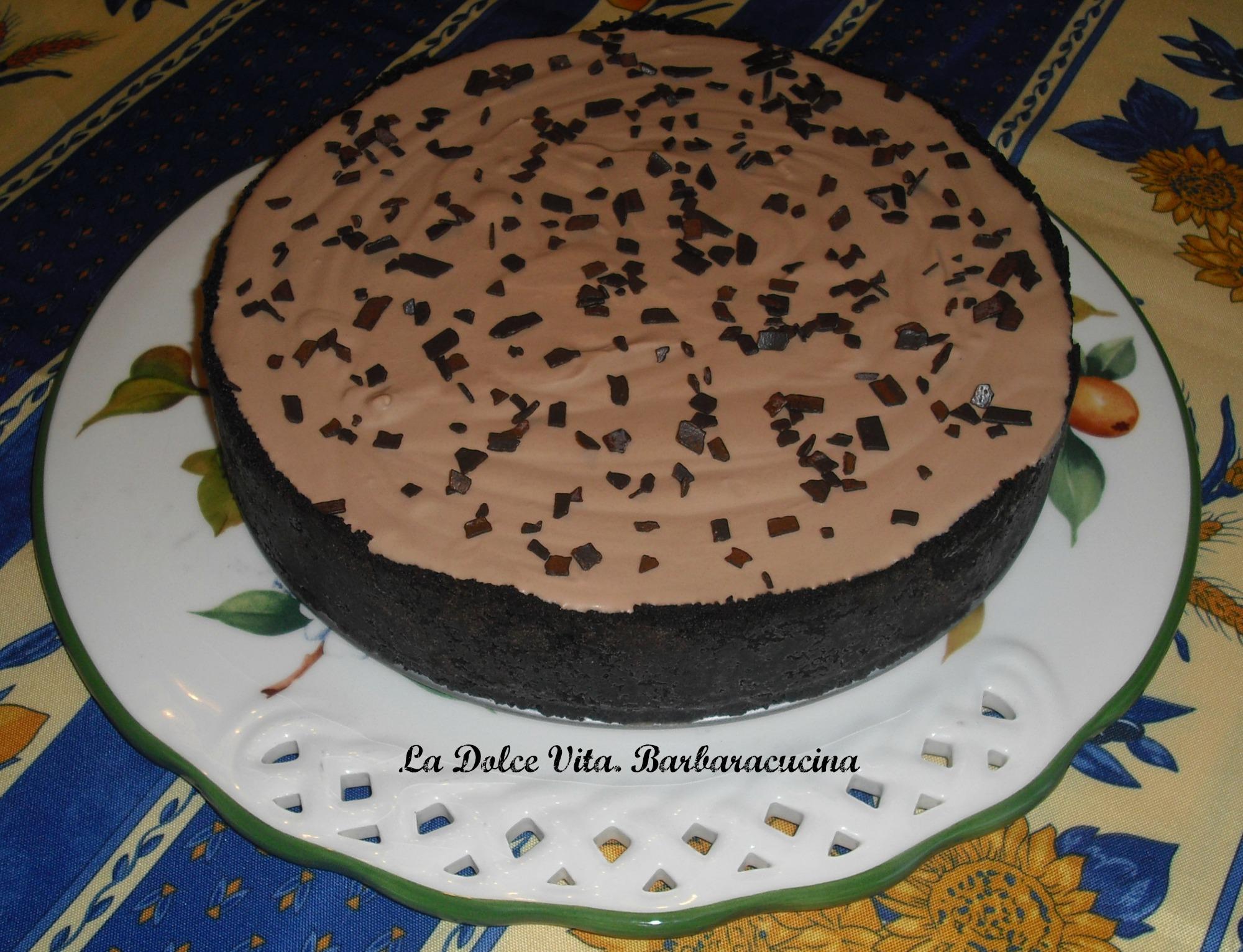torta senza cottura al cioccolato