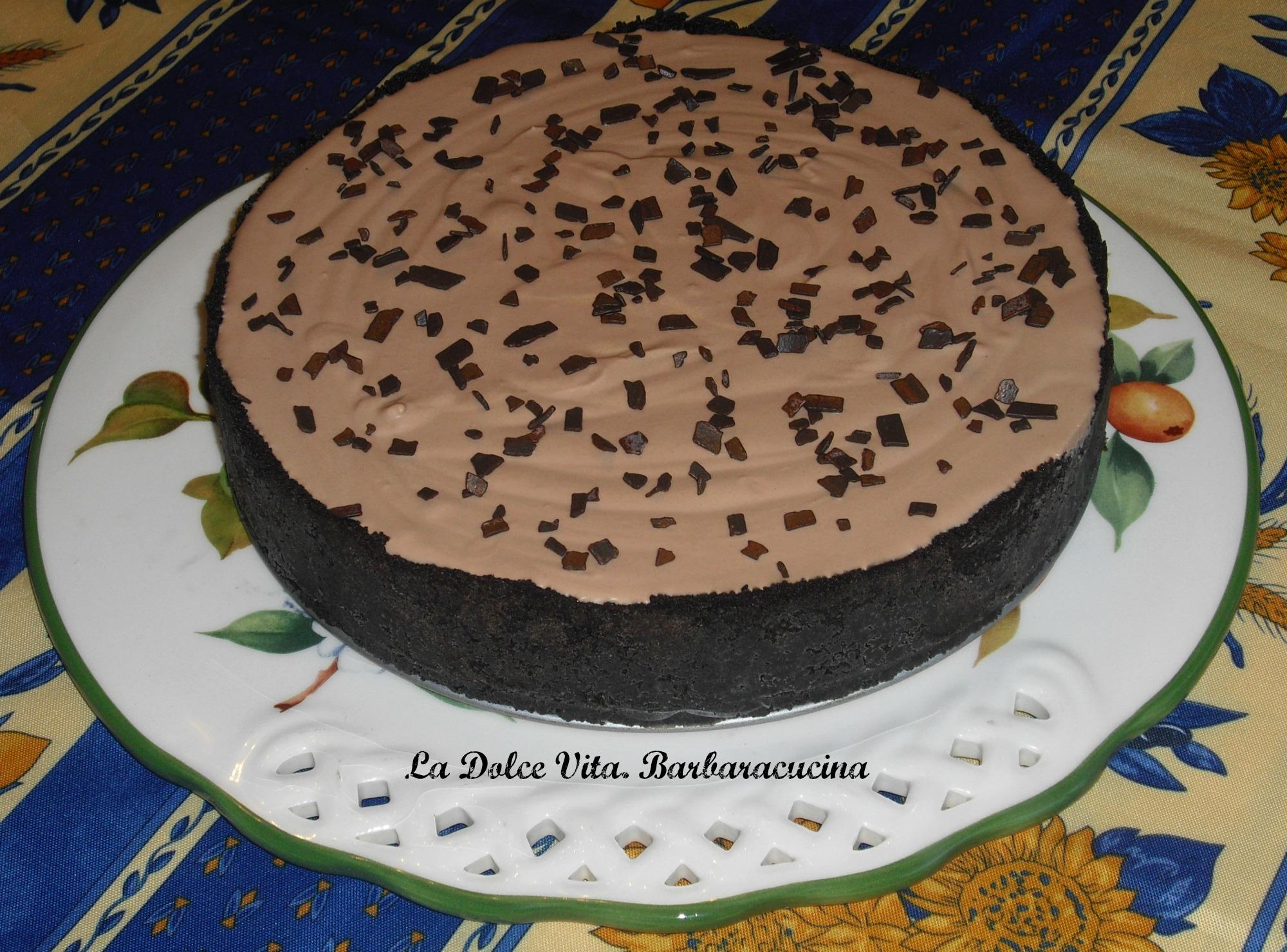 torta senza cottura al cioccolato 1