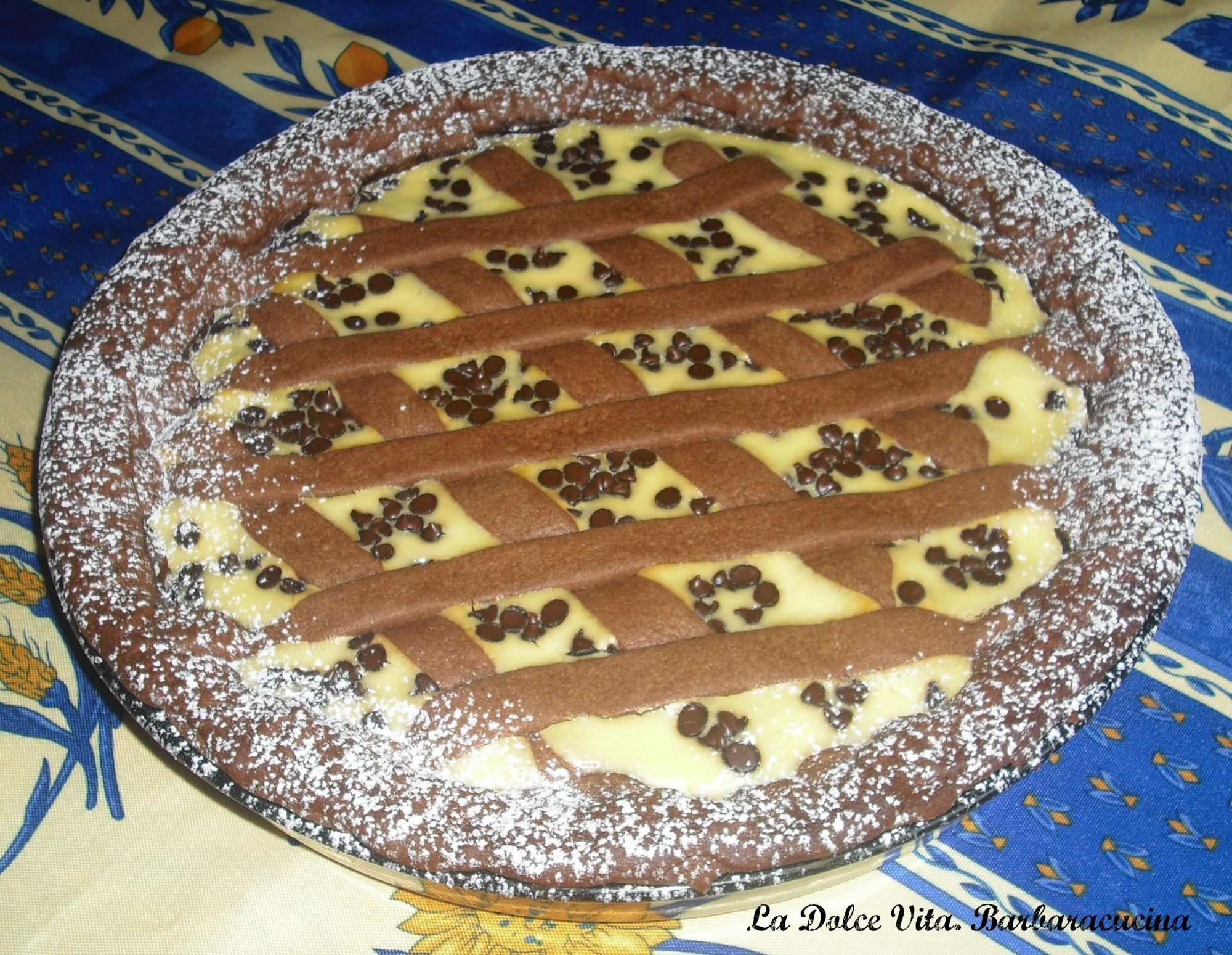 crostata ricotta e cioccolato 2