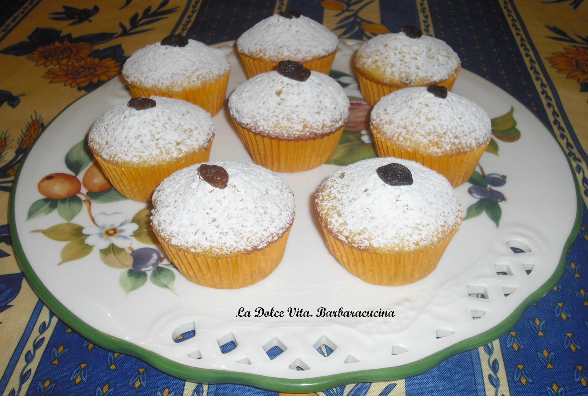 muffins con uvetta