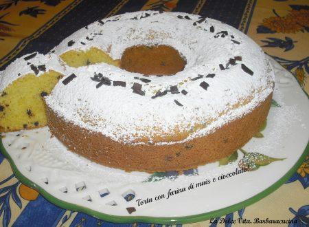 Torta con farina di mais e cioccolato!