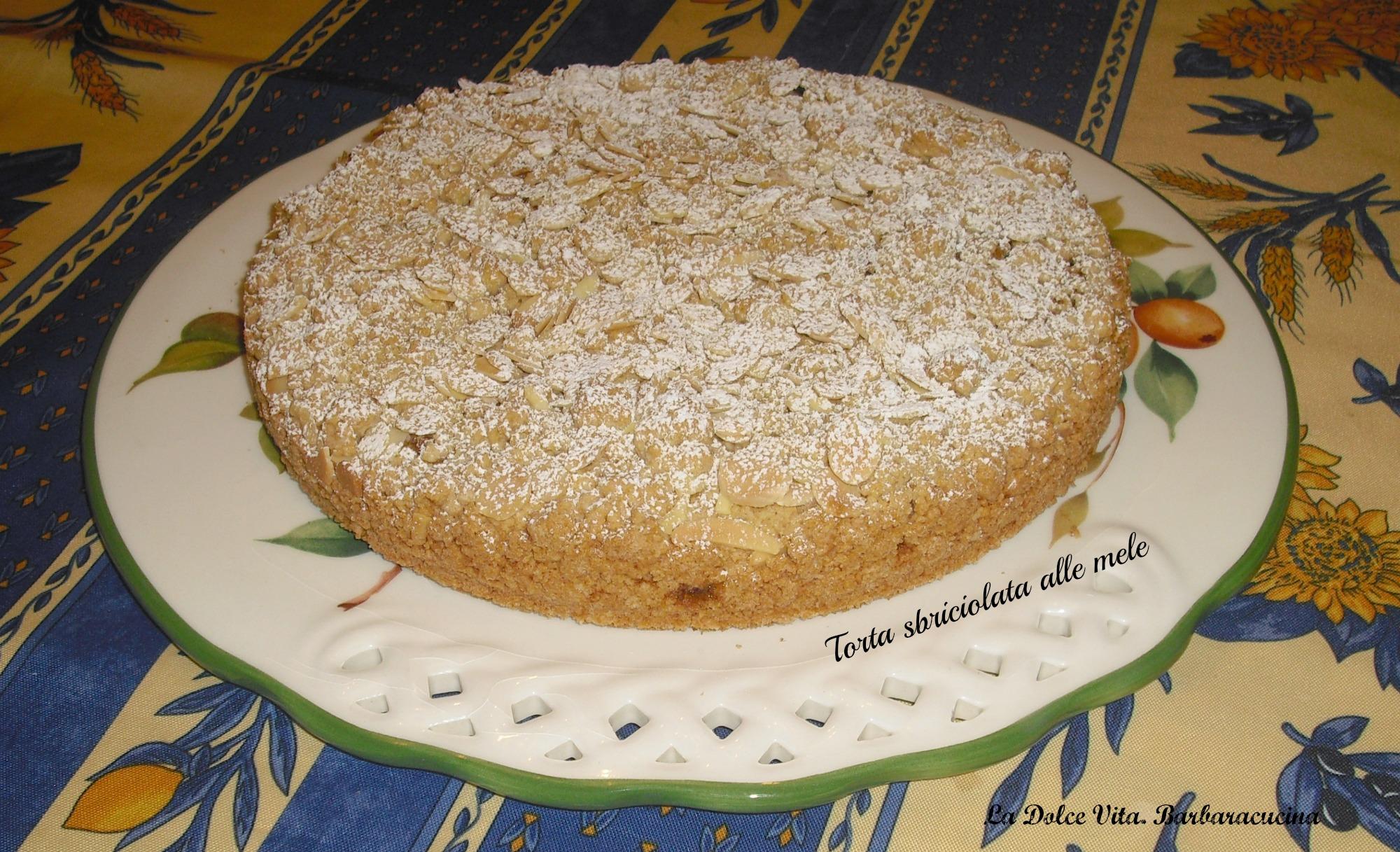 torta sbriciolata mele e cannella