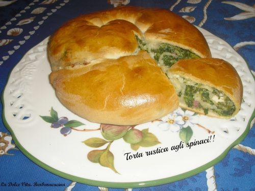 Torta rustica con spinaci!