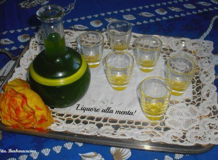 Liquore alla menta!