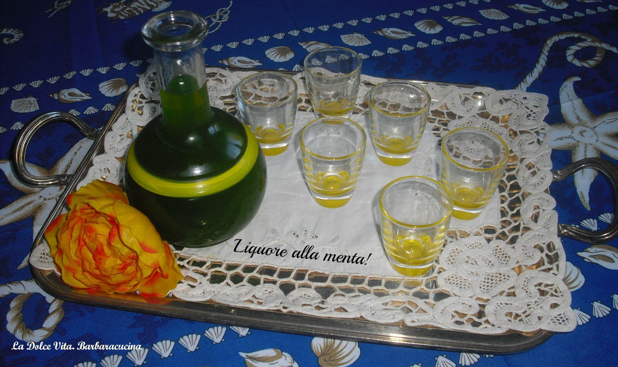 liquore alla menta 1