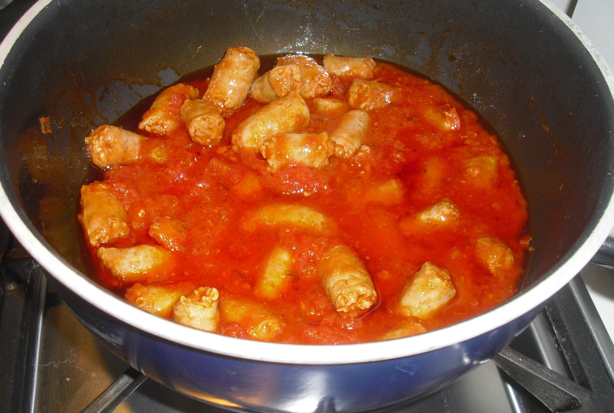 polenta con salsiccia