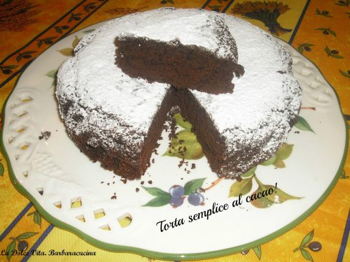 Torta semplice al cacao!