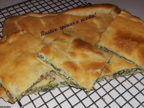 Rustico con spinaci e ricotta!
