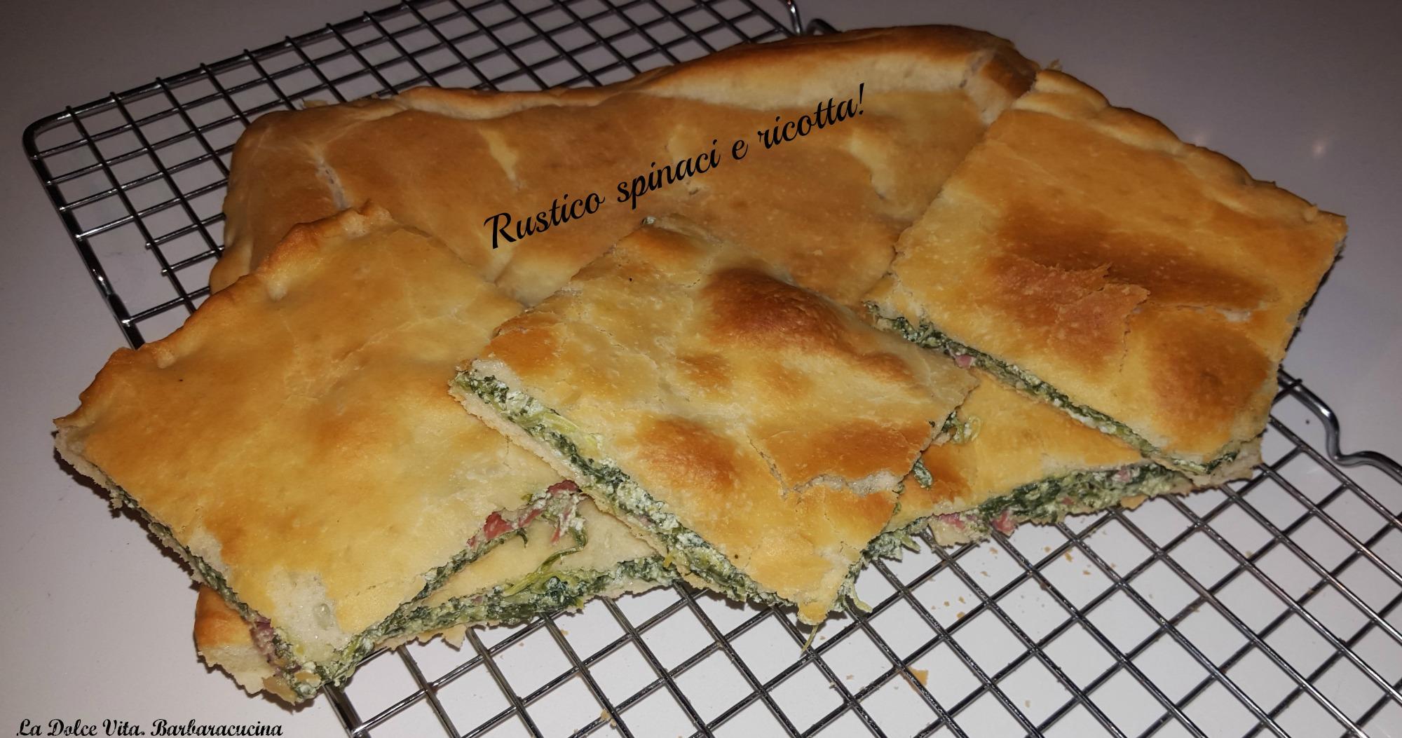 rustico con spinaci e ricotta 1